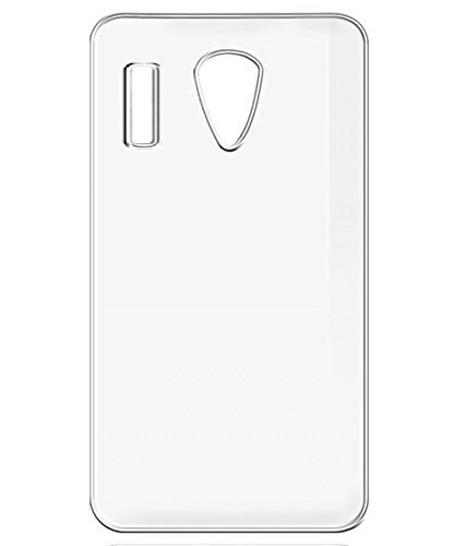Intex Craze 2 Back Cover, Johra Soft Silicone TPU Transparent Case Cover for Intex Craze 2 Transparent Back Cover