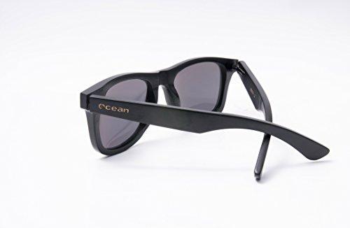 Ocean Sunglasses wood Victoria - lunettes de soleil polarisées en Bambou - Monture : Noir - Verres : Revo Orange (53001.2) jclEAOUH