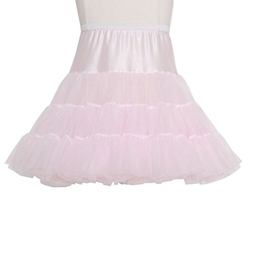ICM Toddler Girls Pink Tea Length Bouffant Nylon Petticoat Half Slip ()