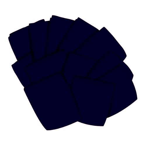 SheetWorld 12 Pack Fitted Bassinet Sheets 15'' x 32 1/2'' - Solid Navy Jersey Knit - Made In USA