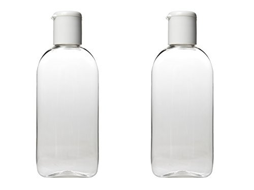 100 ml HOLIDAY TRAVEL BOTTLES 2 x 100ML Clear Plastic Bottles - Airport Approved