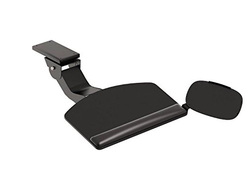 HON Convertible Keyboard with Articulating Arm and Mouse Pad, Black