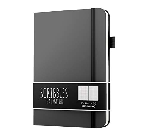 (Dotted Journal by Scribbles That Matter - No Bleed Dotted Notebook with Inner Pocket - B5)