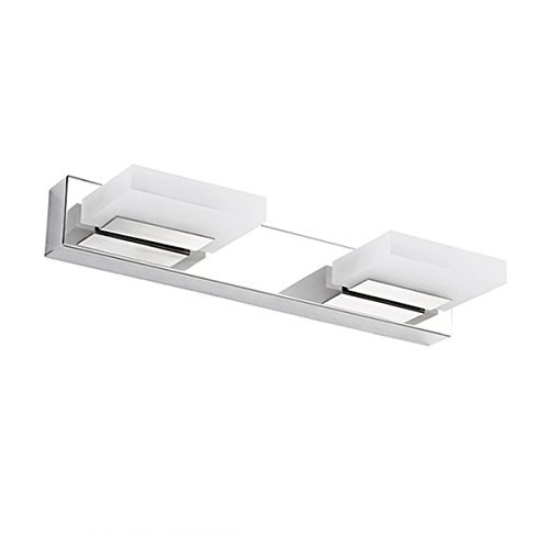 LED Bathroom Vanity Light, ieGeek 8W Modern Vanity Light Wall Light Makeup Cabinet Mirror Light Mirror Front Light Stainless Steel/Chrome/Frosted Acrylic/360 Degree Rotation/Cool White/625 LM-2 Lights