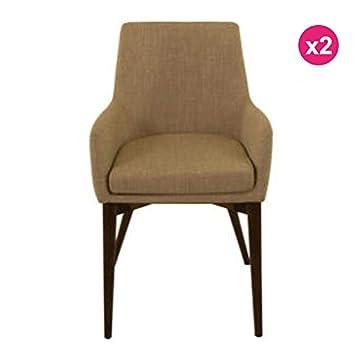 KosyForm - - Juego de 2 sillones en Tela Beige Faro: Amazon ...