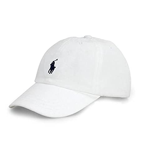 Amazon.com  RALPH LAUREN Polo Baseball Cap Unisex Child White Navy ... bbe190d32387
