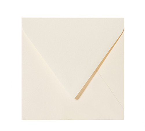 colore: crema chiaro ottima qualit/à 120 g//mq quadrate 14 x 14 cm 25 buste per lettere