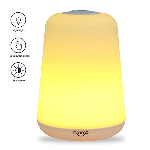 Night Light for Kids- Rechargeable LED Baby Night Lamp Bedside Nightlight Breastfeeding Light with 60 Lumens Soft Light and Flashlight Function Including High and Low Brightness Modes