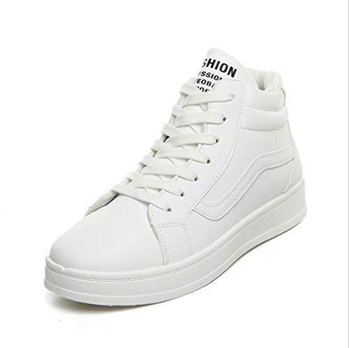 donna alta Estate Novità Scarpe allacciata da Sneaker da donna Novità casual bianche Scarpe da UN Scarpe Scarpe passeggio Academy Autunno PU Lace zTqYcg