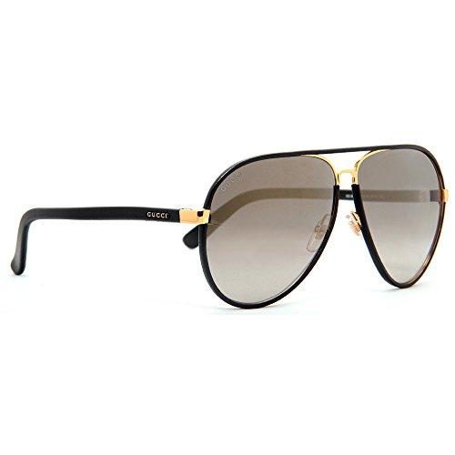70880944878 GUCCI GG 2887 S UZAVD Black Brown Aviator Sunglasses 61mm - Import It All