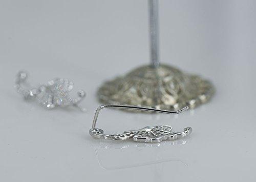 Cishop Argent sterling 925Papillon Diamant zircon Boucles d'oreille à tige d'oreille Boucles d'oreilles 1paire (étoiles