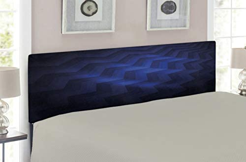 Lunarable Dark Blue Headboard