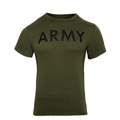Rothco P/T T-Shirt, Army/Olive Drab, Medium