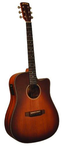 Morgan Monroe MDC-1CEB Acoustic-Electric Guitar,Tobacco Sunburst