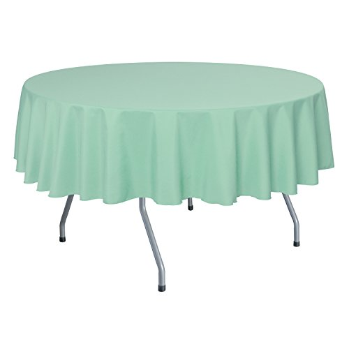 Ultimate Textile (10 Pack) 70-Inch Round Polyester Linen Tablecloth - for Wedding, Restaurant or Banquet use, Mint Light Green by Ultimate Textile