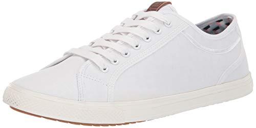Ben Sherman Men's Chandler Lo Sneaker, White Ripstop, 9.5 M US ()