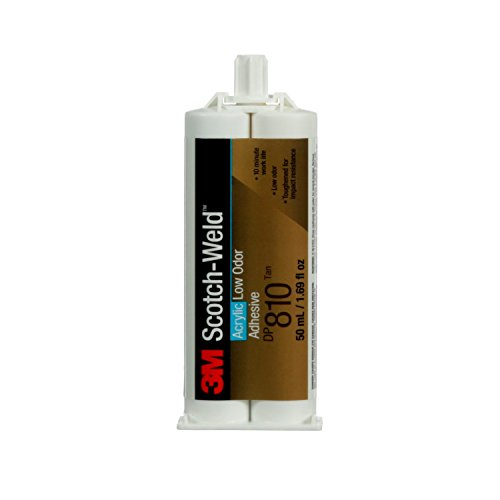 3M Scotch-Weld 49077 Low Odor Acrylic Adhesive DP810, 50 mL, Black, 1.691 fl. oz.