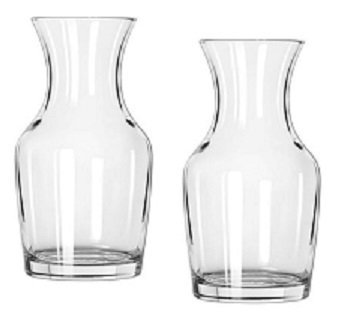 Wine Glass Carafe (Libbey Single Serving Wine Carafe - 6.5 oz Pack of 2)