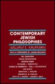 Contemporary Jewish Philosophies