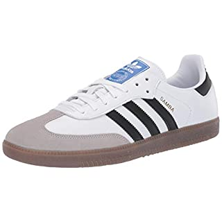 adidas Originals Men's Samba OG Sneaker White/Black/Granite 7
