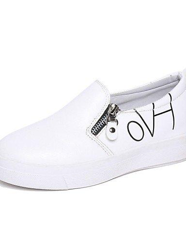 Casual Eu38 Uk5 Mujer Zapatos Cn38 us7 tacón Moda Gyht exterior Zq Black La De comfort 5 Vestido sneakers 5 semicuero 5 Blanco negro A White Plano us7 CqxROtw