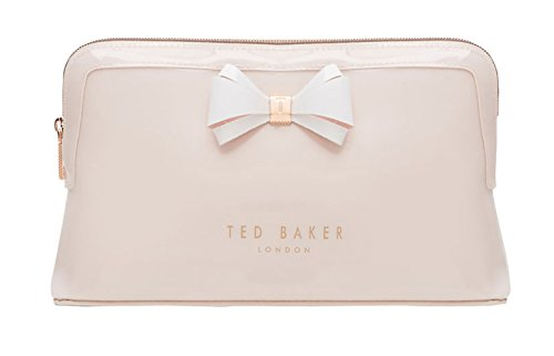 Ted Baker London Abbie Curved Bow Cosmetic Travel Wash Bag (Mid Pink)
