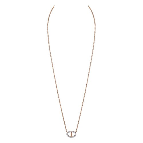 CHARLIZE GADBOIS Sterling Silver Diamond Buckle Pendant Necklace, Rose Gold (0.10 cttw, I1-I2 Clarity) by Gadbois Jewelry