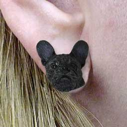 Conversation Concepts French Bulldog Earrings Post