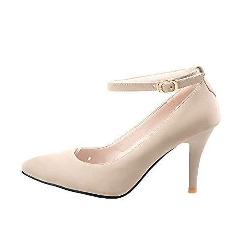 Fibbia AllhqFashion Flats Tacco Donna A Puro Ballet FBUIDD006018 Plastica Albicocca Spillo RRwPUT