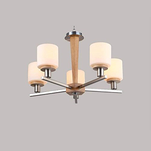 CWJ Chandelier- 8 lights chandelier modern/contemporary traditional/classic vintage country wood feature for led wood living room bedroom dining room -interior lighting chandeliers,5