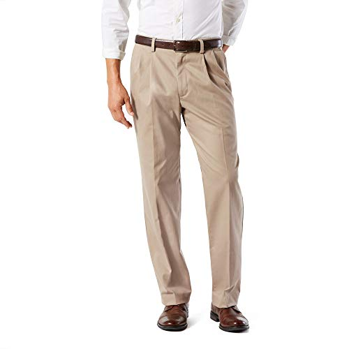 Dockers Men's Classic Fit Easy Khaki Pleated Pants