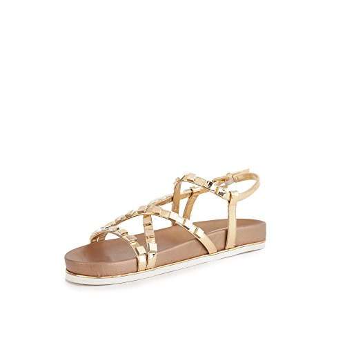 Donna Borchie Gold Scarpe Guess Quadrate Clareta Flcre2lel03 Sandalo qnaxT5
