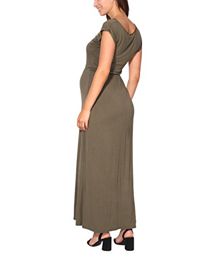 Spring KRISP Long Maxi Dresses Khaki Holiday Summer Sleeve Beach Womens gqO0Hqwvf