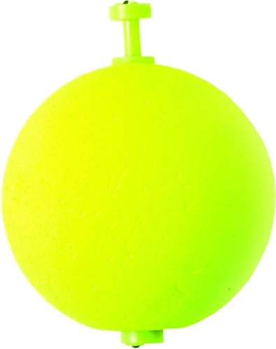 Claw Chartreuse - Eagle Claw Foam Round 1-1/2-Inch Float (2-Pack), Chartreuse