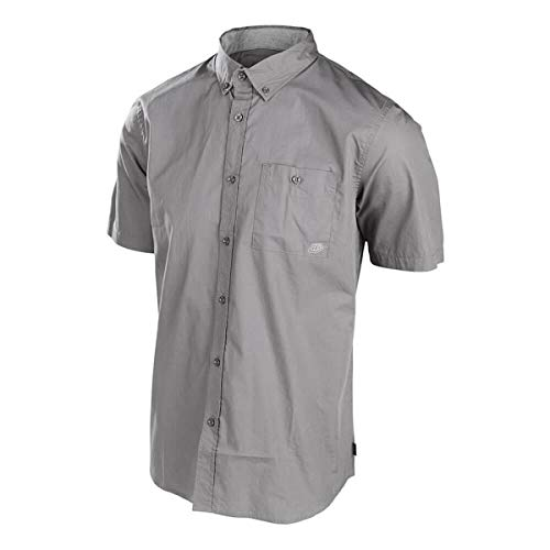 (Troy Lee Designs Streamline Shop Shirt Charcoal (Gray, Small))