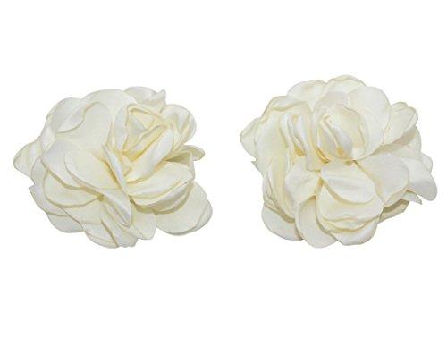 ivory-rose-petals-flowers-alligator-hair-clips-2-pack