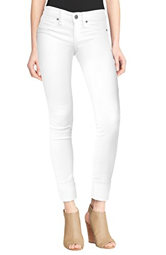 HyBrid & Company Women's Perfectly Shaping Stretchy Deep Cuff Denim Jeans P43997SK White 1