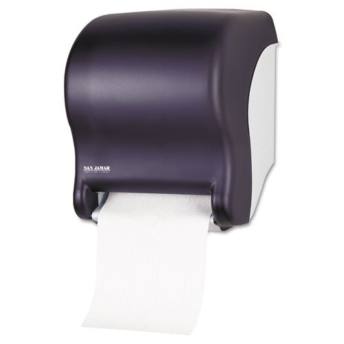 San Jamar - Tear-N-Dry Touchless Towel Dispenser, 11 3/4 x 9 1/8 x 14 7/16, Black Pearl T8000TBK (DMi EA
