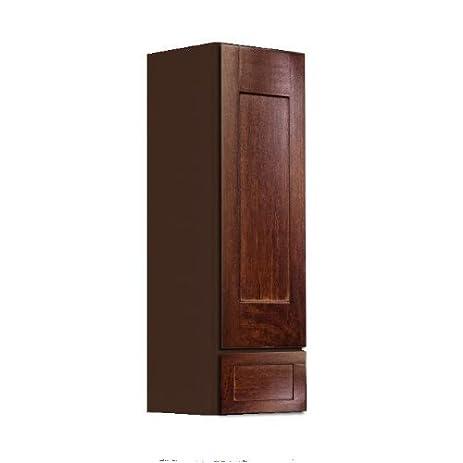 Shaker Panel Door Style Linen Wall Cabinet 12u0026quot; Wide 18u0026quot; Deep  48u0026quot; High