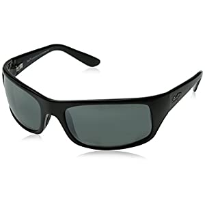Maui Jim Peahi Polarized Sunglasses,Gloss Black Frame/Neutral Grey Lens,one size