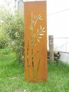 Zen Man Edelrost,Gartendeko,Metall,Rost,Sichtschutz Wand Sichtschutzwand  Gartenzubehör