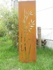 Zen Man Edelrost Gartendeko Metall Rost Sichtschutz Wand