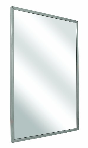 Bradley 780-024360 Float Glass Angle Frame Mirror with Welded Corners and Theft Resistant Mounting, 24