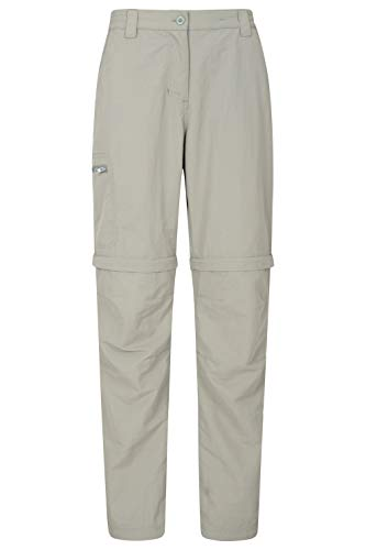 - Mountain Warehouse Navigator Womens Lightweight Zip Off Pants Light Khaki 8