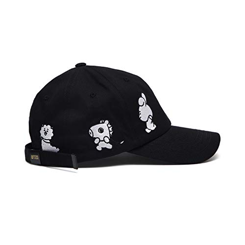 256fa38649d BT21 Official Merchandise by Line Friends - Black Baseball Cap Hats for Men  and Women at Amazon Men s Clothing store