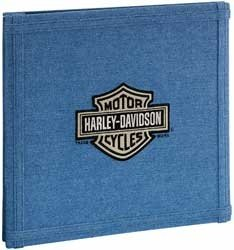 Harley Davidson Motorcycle 12'' x 12'' Denim Scrapbook Album (HDSA02)