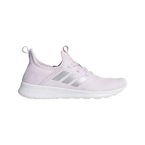 adidas Kid's Cloudfoam Pure Running Shoe, Aero Pink/Silver Metallic, 2 Medium US