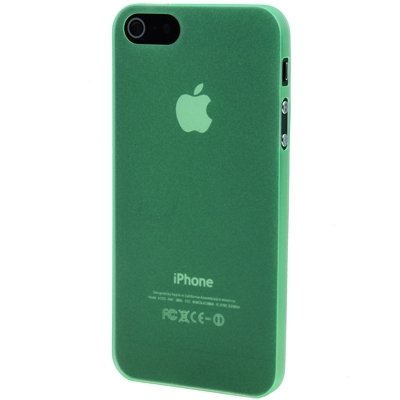 Mxnet 0.3mm Materiales de policarbonato ultra finos Shell de protección para PC para iPhone 5 & 5s & SE Fundas ( Color : Red ) Green