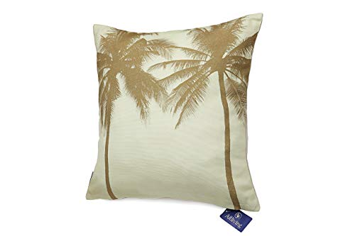 "Aitliving Toss Pillow Cover Ocean Tropical Palm Coconut Tree Throw Pillow Shell Yellow Vintage Retro Photo Digital Print 18""X18"" Cotton Canvas Island Beach Sunset Cushion Pillow Case"