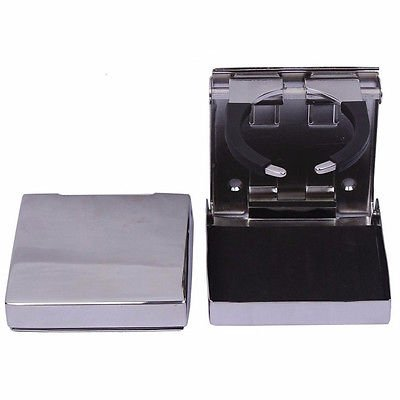 FidgetFidget Stainless Steel Folding Cup Drink Holder Adjustable Fit by FidgetFidget